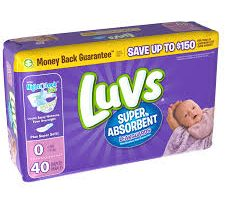 Luvs Jumbo Diapers Only $4.50