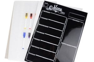 Magnetic Refrigerator Chalkboard with 8 color Magnetic Markers