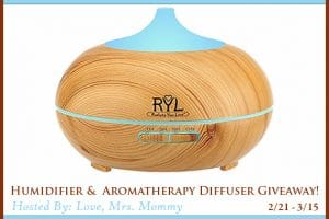 New Giveaway! Win a Humidifier & Aromatherapy Diffuser