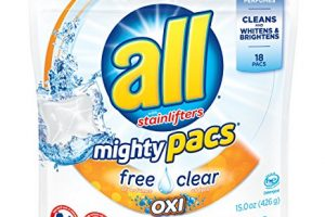 All Mighty Pacs Laundry Detergent Only $1.74