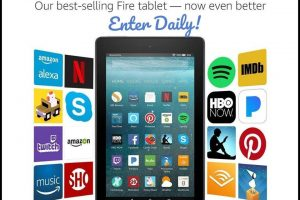 Enter to Win Kindle Fire HD 7 Tablet equipped with Alexa!