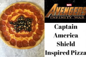 Infinity War Inspired Captain America Pizza