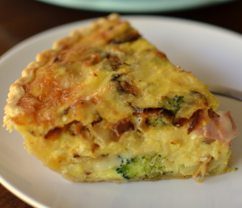 Caramelized Onion Ham Broccoli Quiche 7 - Mother's Day Brunch Recipes