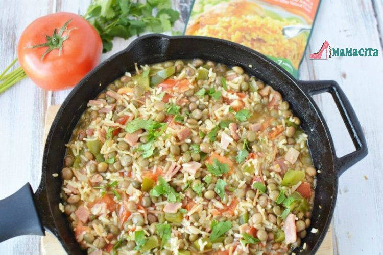 Rice with Pigeon Peas - An Easy Dish for Hectic Spring and Summer Days #recipe #DinnerRecipes #RiceRecipe #Rice #Summerttime