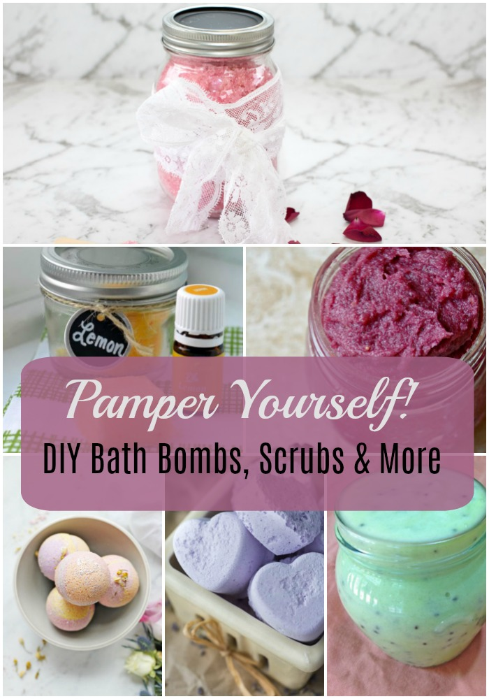12 Ways to Pamper Yourself - DIY Bath Bombs, Scrubs & More! #DIY #Bathbombs #DIYScrubs #DIYBath #BathRecipes