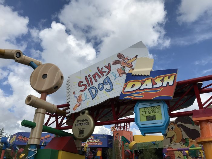 Slinky Dog Disney Hollywood Studios Toy Story Land ride