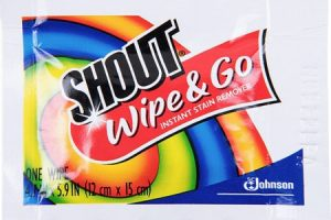 Shout Wipe & Go Stain Remover Wipes Only $0.47