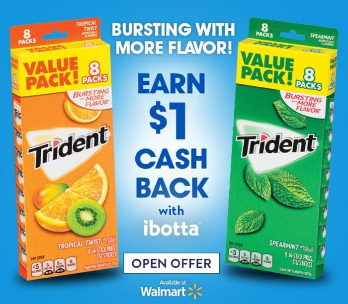 Save on Trident Gum at Walmart with Ibotta!
