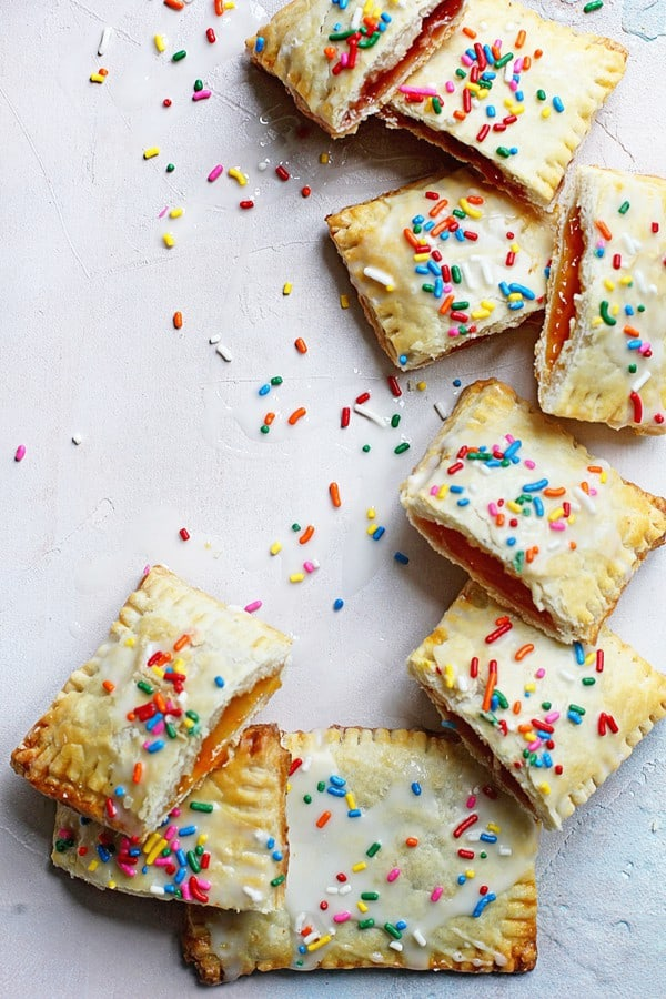 Homemade Poptarts with sprinkles.