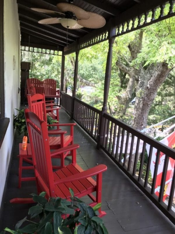 St Francis Inn St. Augustine rocking chairs