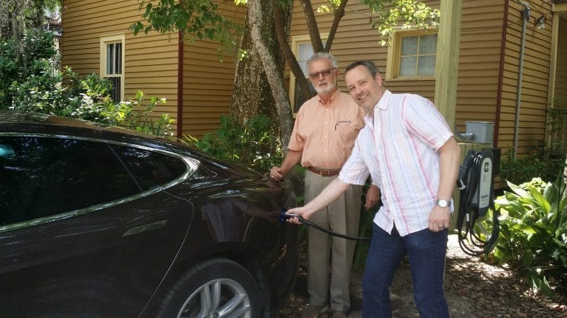 St Francis Tesla Charging Station e1538670175282 - St Francis Inn St Augustine, Florida - A Culture Filled Trip