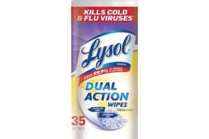 Hurry! Lysol Dual Action Wipes, 35 ct Only $1.80!