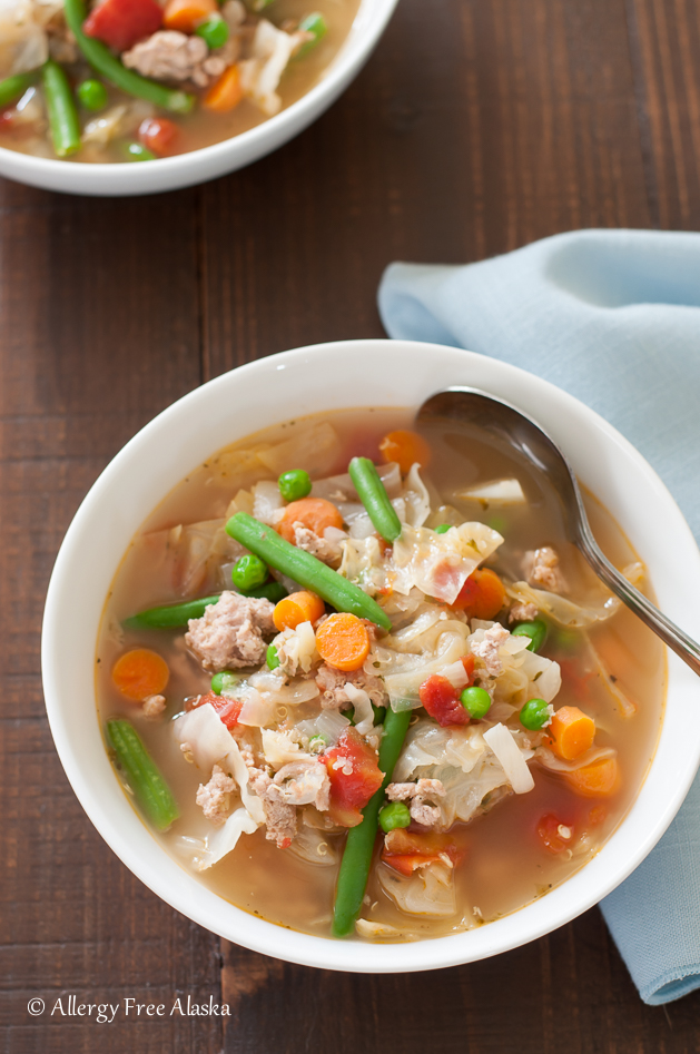 Ground Turkey Garden Vegetable Soup from Allergy Free Alaska - So Good Soups! Healthy & Delicious!