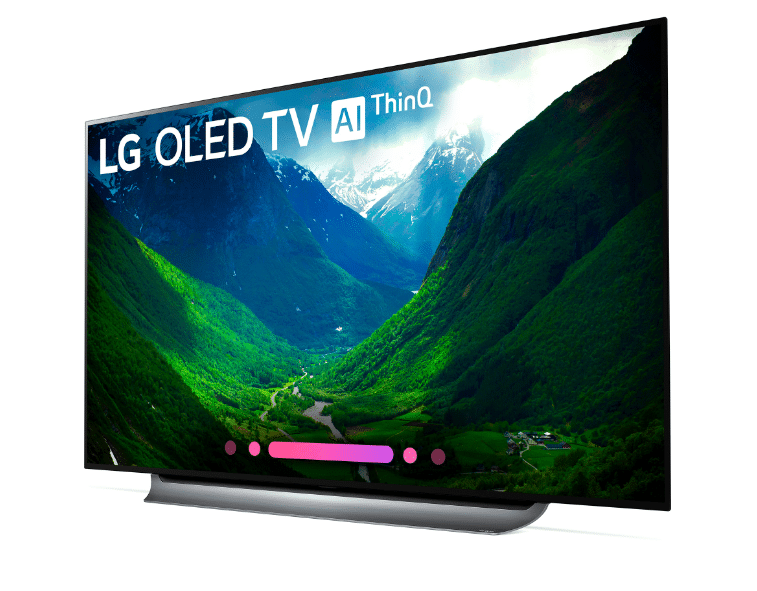 Right - Be Game Day Ready with The 77'' class LG OLED C8 TV from Best Buy