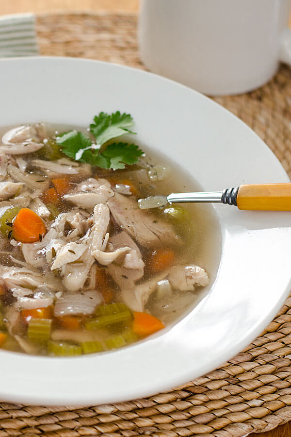 crock pot chicken soup600x900 - So Good Soups! Healthy & Delicious!