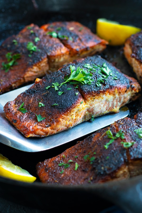 Blackened Salmon - 12 Simple Salmon Recipes - Quick & Easy and Healthy too!