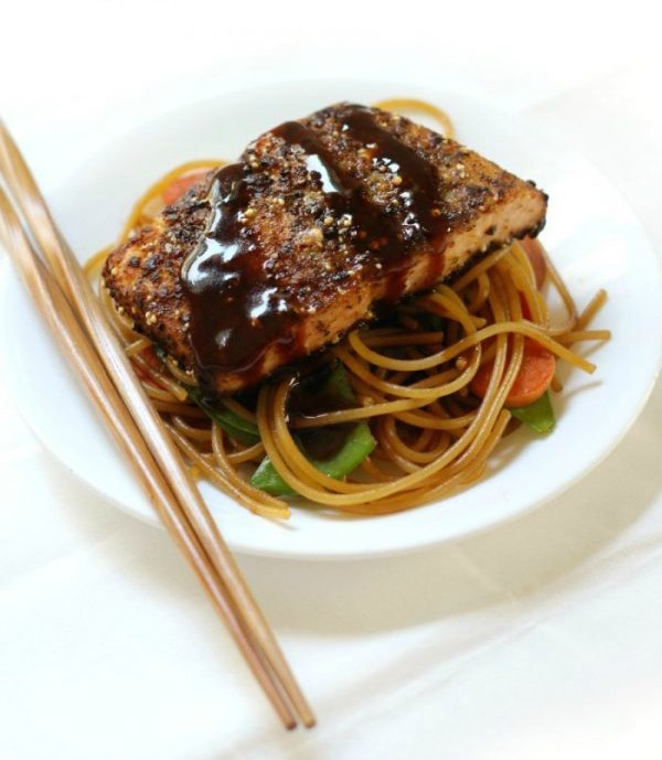 Citrus Ginger Salmon with Sticky Garlic Noodles 4 e1549820703866 1 - 12 Simple Salmon Recipes - Quick & Easy and Healthy too!