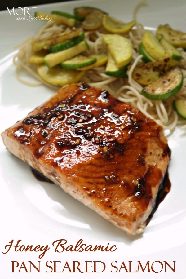 Honey Balsamic Pan Seared Salmon 1 - 12 Simple Salmon Recipes - Quick & Easy and Healthy too!