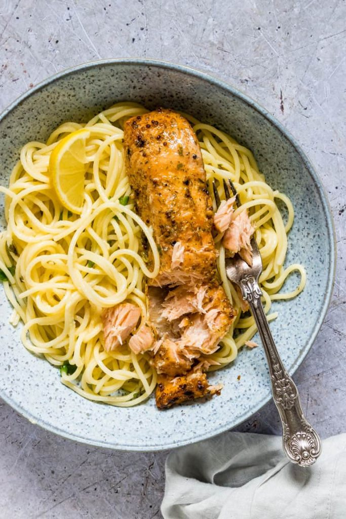 Lemon Butter Salmon Pasta 5 683x1024 - 12 Simple Salmon Recipes - Quick & Easy and Healthy too!