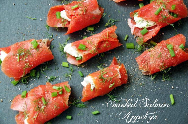 Smoked Salmon Easy Appetizer Recipe 2 768x508 - 12 Simple Salmon Recipes - Quick & Easy and Healthy too!