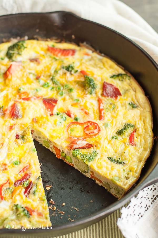 Smoked Salmon and Veggie Frittata Allergy Free Alaska - 12 Simple Salmon Recipes - Quick & Easy and Healthy too!